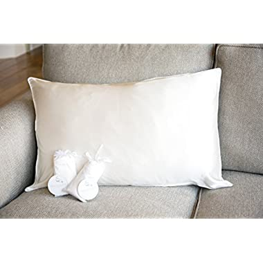 purebloom 100% Premium 25 mm Mulberry Silk Pillowcase for Hair & Skin | Machine Washable & Dryable with Zippered Enclosure | Double Sided in Queen & Standard Size | Natural Undyed White