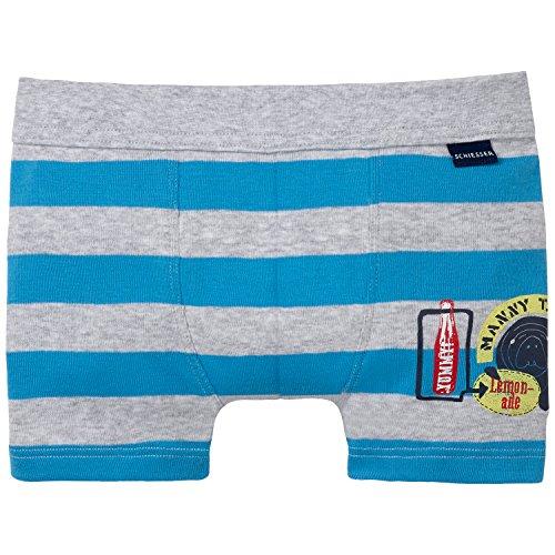 Schiesser Jungen Boxershorts Hip Shorts, Gr. 104, Blau (aquarium 813)