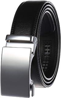Filgate Men's Leather Ratchet Dress Belt - Genuine Leather Belt for Men - with Automatic Buckle,Elegant Gift Box