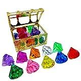 N//B Juego de Diamantes con Caja Pirata del Tesoro, Joya de Buceo,...