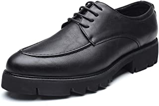 2019 Mens New Lace-up Flats Men's Fashion Oxford Shoes, Casual Round Toe Lace up Thick Bottom Leisure Shoes