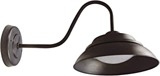 NEOX 10 inch LED Gooseneck Wall Sconce Barn Light with Photocell, Dusk to Dawn Sensor, Outdoor/Indoor Lighting Fixture, Bronze Finish, 30W, 2120lm, 3000K, ETL&Energy Star Listed