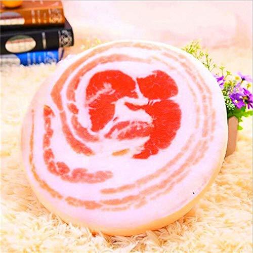 FKIHK SitzkissenRealistic Pork Cushions Abnehmbare runde Baumwollstuhlkissen Home Cushion Decoration, Multi, Siehe unten für Größenbeschreibungen