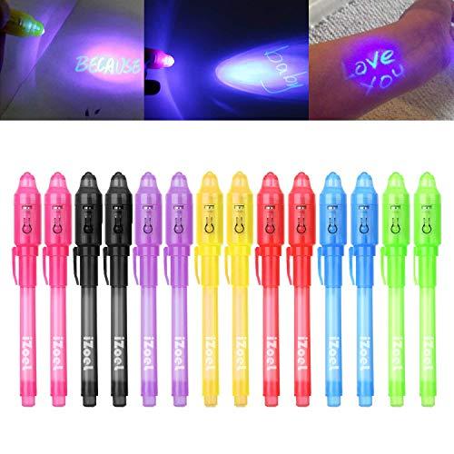 iZoeL Lot de 14 crayons à encre invisible avec lumière UV...