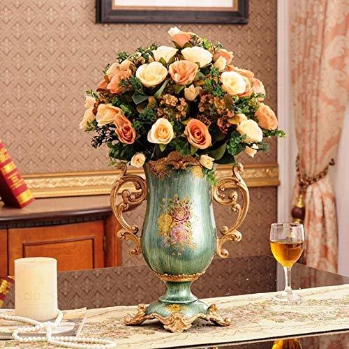 Jarrones de cerámica Potes de macetas Planta Contenedor Cerámica D cerámica para Piezas centrales, florero de Flores de decoración, Oficina Hotel Decoración de la casa Pintada a Mano