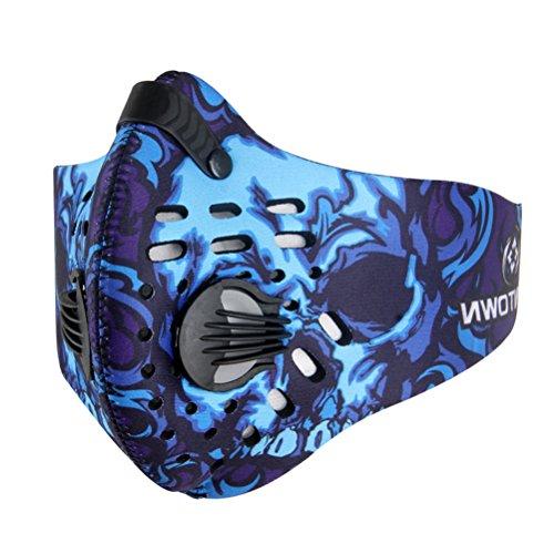 VOSAREA Staubschutzmaske Atemschutzmaske Staubmaske Aktivkohle Mundschutzmaske Anti PM2.5 Maske für Sport und Outdoor-Aktivitäten