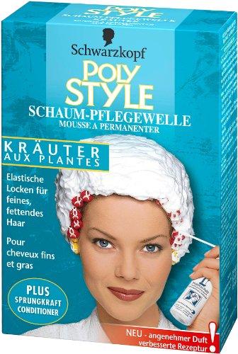 Schwarzkopf Poly Style Kräuter Schaum-Pflegewelle, 5er Pack (5 x 170 ml)