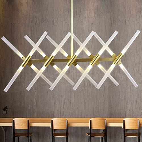 Lámpara de techo LED para salón, lámpara colgante, lámpara de techo para comedor, iluminación colgante (color del cuerpo: negro)