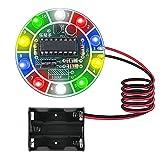 Kit Electronica de Soldadura Xruison LED Giratorio Control de Voz Componentes Electronicos Circuitos Kit de Práctica de Soldadura Kit Educativo de Ciencia Para Niños Adultos