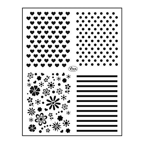 Viva Decor®️ Clear-Stamps (Hintergrund Klassisch) Silikon Stempel - Prägung Stempel - DIY Dekoration stanzen - Stempel Silikon - DIY Stamp - Stempel Prägung - Made in Germany