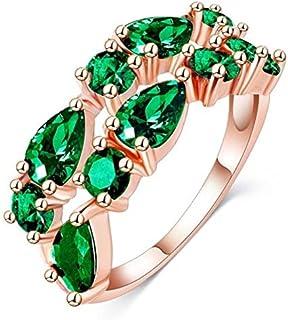 خاتم نسائي مطلي بالذهب ومزين بالكرستال مقاس 7 أمريكي RING GOLD PLATED SIZE 7 Women ring gold plated