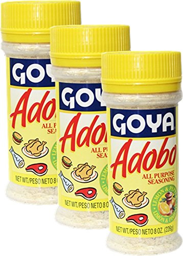 Goya Adobo Seasoning with Lemon and 8 of 3 oz Special online shopping Campaign Pepper Pack