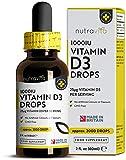 Vitamin D *10,000 IU per 10 Drops* - 2,000 Vegetarian Drops of 1000 IU Vitamin D3 per Bottle - Flexible Dosage up to 200 Servings of 10,000 IU - Cholecalciferol for Healthy Bones and Immune System