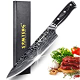 8 inch Chef's Knife - SMTENG High Carbon German Steel Kitchen Knife - Full Tang Design Ergonomic Handle - Professional Cooking Carving Knives