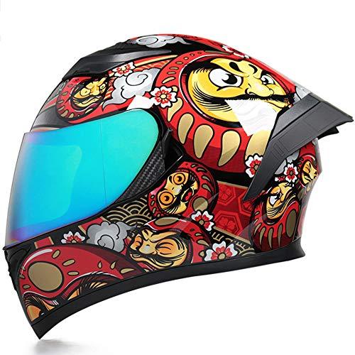 ZYW Anti-Collision-Helm-Fahrrad-Cross-Country-Motorrad-Helm-Punkt/ECE-Zertifizierter...
