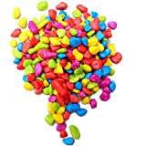 ExeQianming Piedras de colores, 300 g de grava de jardín de colores irregulares para acuario, pecera, grava para decoración de macetas, manualidades, 3-5 mm