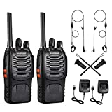 Baofeng Walkie Talkies, 2 Way Radio Long Range Rechargeable Walkie Ttalkie with LED Light, Portable & Compact Handheld Two Way Radio, Reliable Long Range Walkie Talkie, Professional & Easy To Use