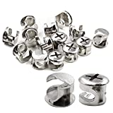Luomorgo 12mm (15/32 inch) Dia Furniture Connecting Cam Fittings 20pcs