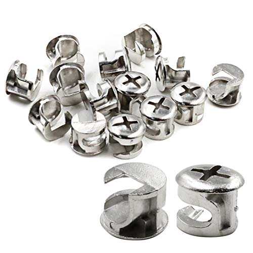 ZXHAO 12mm (15/32 inch) Dia Furniture Connecting Cam Fittings 20pcs