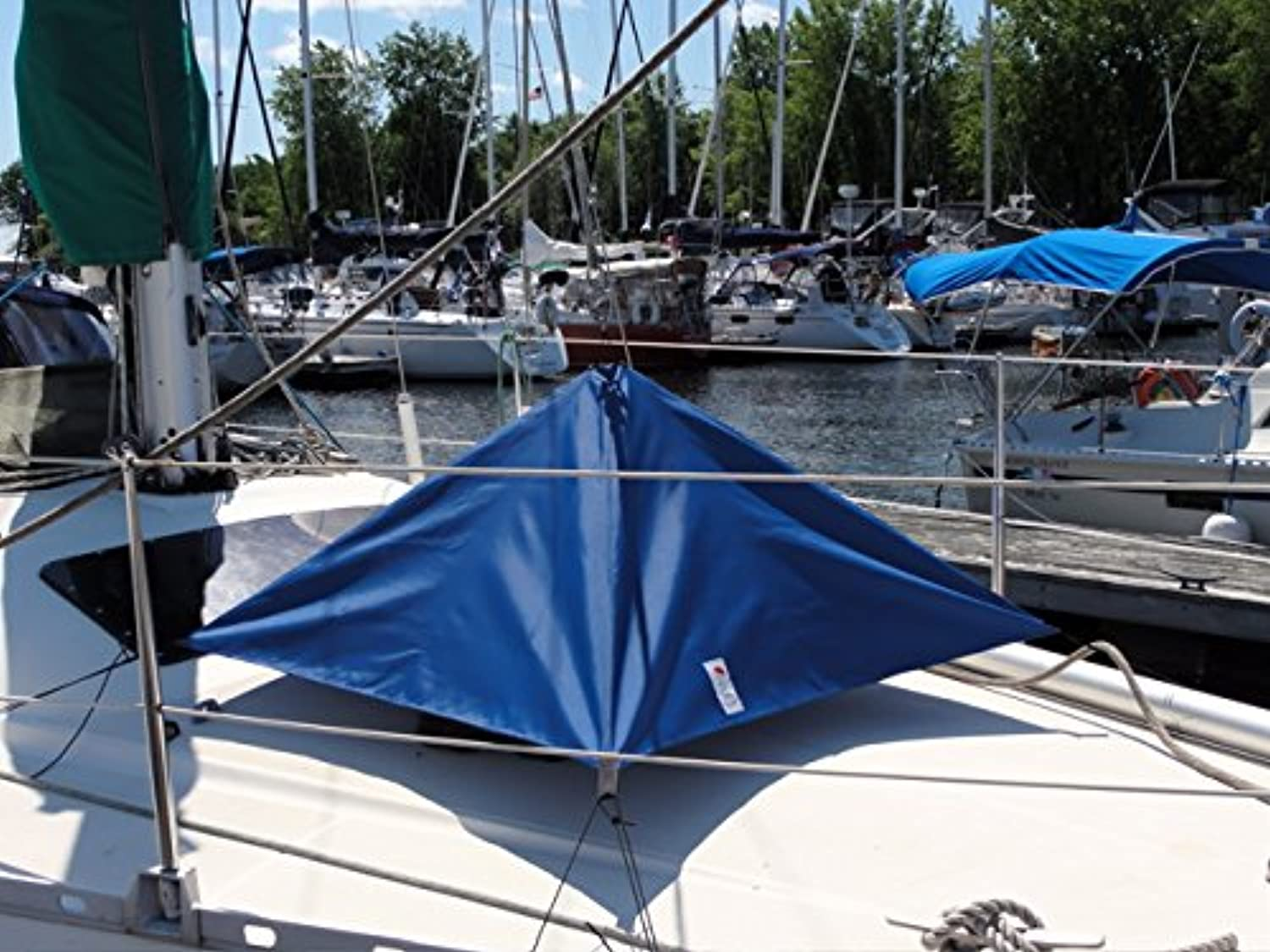 (Royal blueee)  HATCH UMBRELLA FOR POWERBOAT AND SAILBOAT