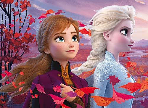 Lisciani Giochi- Disney-DF Plus Frozen 2 Puzzle Doppia Faccia, Multicolore, Supermaxi 35 Pezzi, 82155