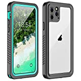 iphone 5 vapor case - YUANSE iPhone 11 Pro Max Waterproof Case, iPhone 11 Pro Max Case with Built-in Screen Protector Full Body Protection IP68 Underwater Dropproof Waterproof Case for iPhone 11 Pro Max 6.5(inch) Blue