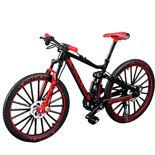 HONUTIGE modello 1:10 mountain bike, simulare il modello in miniatura di mountain bike, modello retrò MIni in metallo pressofuso modello, bicicletta da corsa, giocattolo per collezione Decor