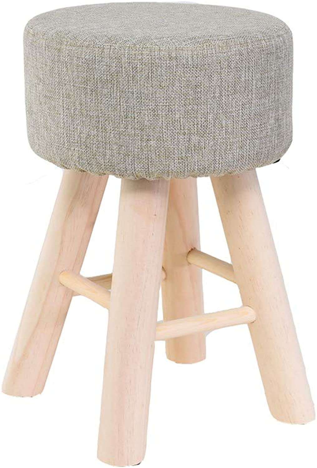 Solid Wood Stool Home Modern Living Room Stool Adult Wood Stool Makeup Stool Dressing Stool (color   D)