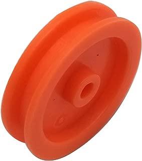 EUDAX 100 Pcs 2mm Hole Orange Plastic Belt Pulley DIY RC Toy Car Airplane