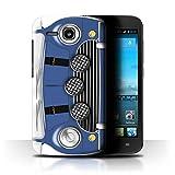 Stuff4 Hülle/Hülle für Huawei Ascend Y600 / Italian Job Blau Muster/Klassisch Retro Mini Kollektion