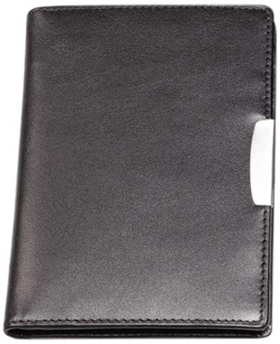 Cescahide - Carpeta portafolios (piel, con bolígrafo), color negro