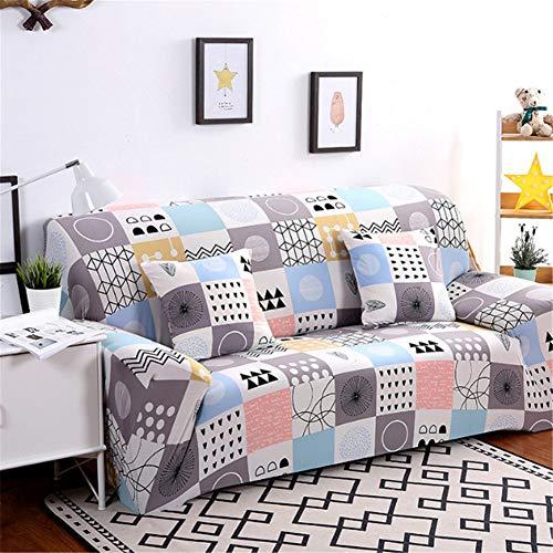 BSBDZD Hoekbank, antislip, elastisch, all-inclusive combi-bankovertrek, woonkamersofaovertrek van polyester, met patroondruk