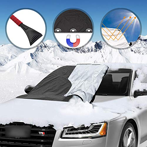 ouying1418 Cone Windshield Snow Remover Deicer Tool Car Rearview Mirror Scraper