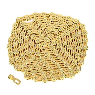 11 Speed Bike Chain, Ultralight Hollow-out Chain 116 Links Replacement Parts for Fixed Gear Road Bikes Bicycles