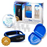 3 in 1 Anti Snoring Devices, SnoreDoc Collection The Best Anti-Snore Solutions, Includes Snore Chin Strap, Sleep Mouth Guard, and 4 Size Nose Vents