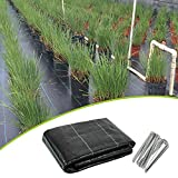 XUEXUE Weed Barrier Fabric, Weed Membrane UV Stabilised Black Woven Covers, Water Permeable and Tearproof Landscape Gardening Ground Cover (Color : Black, Size : 4X30M)