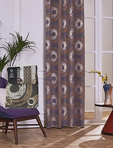 VISTE TU HOGAR Opaker Dekorativer Vorhang mit Ösen, Einfacher und Eleganter Stil, für Wohnzimmer, Zimmer und Schlafzimmer, 1 Stück, 150 x 260 cm, Dunkelgraue Farbe