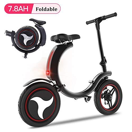 San Qing Mini Bicicleta Eléctrica Plegable Adulto Coche Eléctrico 6.0ah / 7.8ah Batería de Litio Coche Eléctrico De Dos Ruedas Trabajo Scooter...