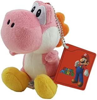 "Super Mario Bro ~Pink Yoshi 5"" Plush Key Chain"