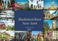 Stadtansichten New York (Wandkalender 2022 DIN A2 quer): Momentaufnahmen aus der Stadt der Staedte, New York (Monatskalender, 14 Seiten )