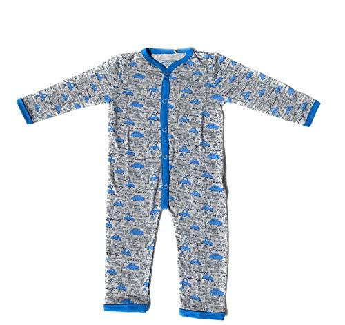 Ventilkappenkönig Baby Bio Baumwolle Body Pyjama Strampler Kleinkind Neugeborene 1er 2er 3er Sets für 0-24 Monate (1er Body Autos, 74-80)