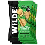 fried chicken chips - Jalapeno Chicken Chips by Wilde Chips, Made with Real Chicken, 2.25oz Bag (3 Count)