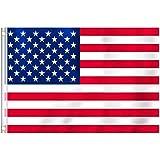 RYMALL Drapeau des États-Unis - Drapeau Américain 90x150cm Polyester-Drapeau USA Grande Taille Couleurs Vives et Drapeaux Nationaux à Double Couture 100% Polyester avec Oeillets en Laiton 1pcs