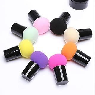 1pc Makeup Sponge Cute Mushroom Head Cosmetic Dry & Wet Dual Purpose Powder Puff Water Bigger Facial Beauty Tools,Purple