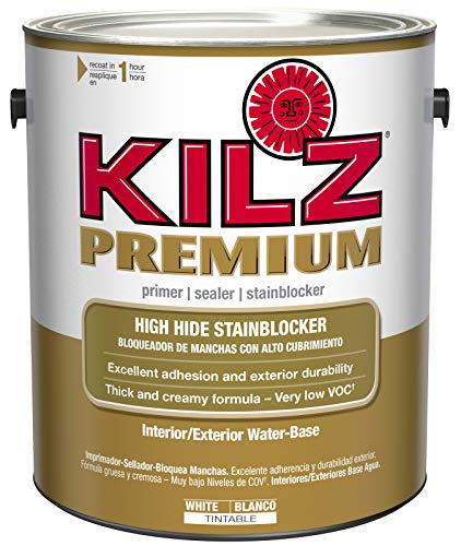 KILZ Premium High-Hide Stain Blocking Interior/Exterior...