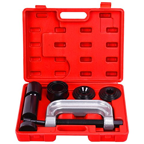 Goplus 4 in 1 Ball Joint Service Tool Kit 2WD & 4WD Remover Installer w/ 4-Wheel Drive Adapters