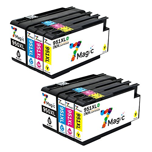 7Magic 950XL 951XL Cartucho de Tinta Compatible para HP 950XL 951XL Compatible para HP OfficeJet Pro 8600 Plus 8610 8620 8615 276DW 8100 8625 8630 8640 8660 251DW (2 Noir/2 Cyan/2 Magenta/2 Jaune)
