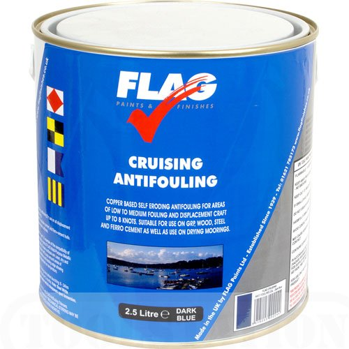 FLAG Cruising Antifouling Paint Red 2.5 Ltr