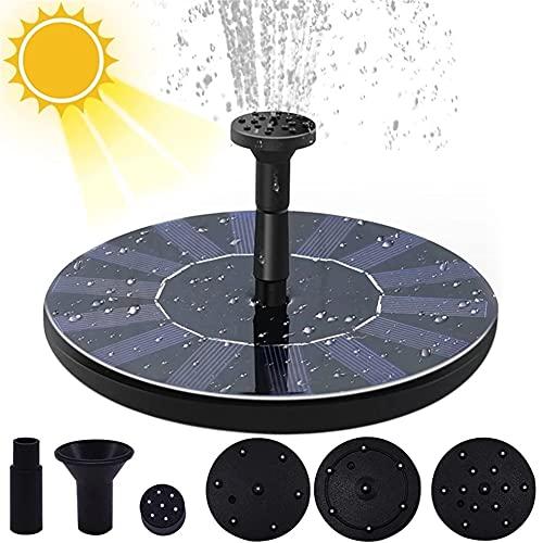 HYCJ Zonnefontein pomp, Cirkel zonne-waterfontein met zonnepaneel drijvende zonne-vijverpomp voor vijver, fontein, vogelbad, tuindecoratie, waterfietsen