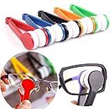 LERORO 5 Pcs Mini Sun Glasses Eyeglass Microfiber Spectacles Cleaner Soft Brush Cleaning Tool Mini Microfiber Glasses Eyeglasses Cleaner Cleaning Clip (Random Color)